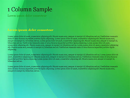Green and Yellow Abstraction PowerPoint Template, Slide 4, 14828, Abstract/Textures — PoweredTemplate.com