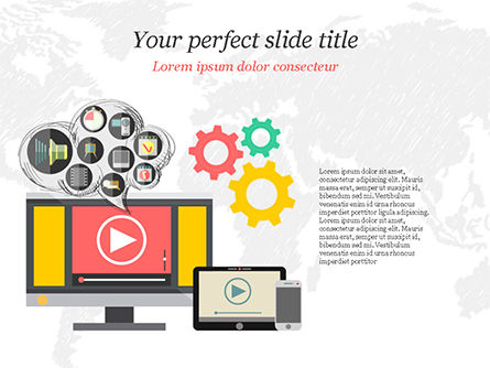 Video Marketing PowerPoint Template, 14832, Careers/Industry — PoweredTemplate.com