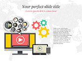 Careers/Industry: Plantilla de PowerPoint - video marketing #14832