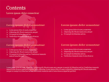 One Two and Three Numbers at Hands PowerPoint Template, Slide 2, 14833, 3D — PoweredTemplate.com