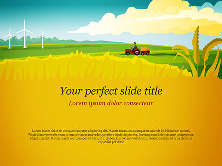 Idyllic Farm Landscape PowerPoint Template, 14834, Agriculture — PoweredTemplate.com