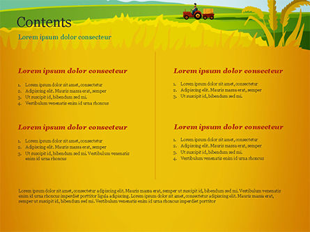 Idyllic Farm Landscape PowerPoint Template, Slide 2, 14834, Agriculture — PoweredTemplate.com