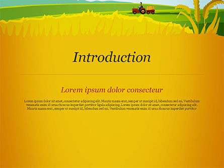 Idyllic Farm Landscape PowerPoint Template, Slide 3, 14834, Agriculture — PoweredTemplate.com