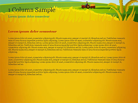 Idyllic Farm Landscape PowerPoint Template, Slide 4, 14834, Agriculture — PoweredTemplate.com