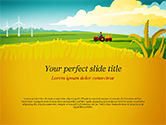 Agriculture: Plantilla de PowerPoint - idílico paisaje de granja #14834