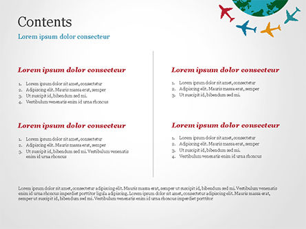 Airplane Travel Concept PowerPoint Template, Slide 2, 14836, Global — PoweredTemplate.com