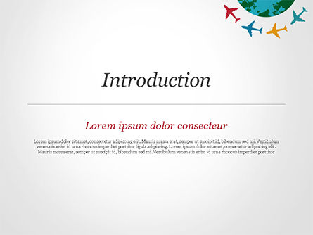Airplane Travel Concept PowerPoint Template Slide 3