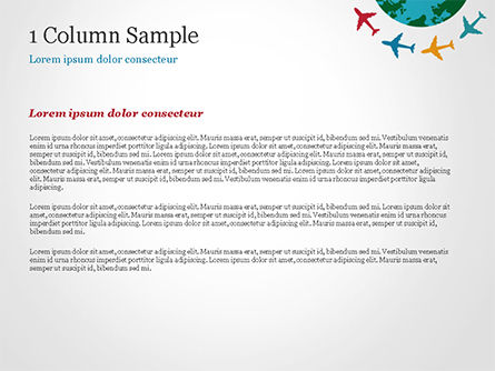 Airplane Travel Concept PowerPoint Template, Slide 4, 14836, Global — PoweredTemplate.com