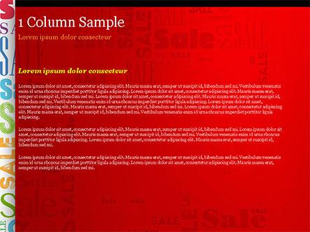 Sale Word Cloud PowerPoint Template, Slide 4, 14837, Careers/Industry — PoweredTemplate.com