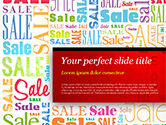 Careers/Industry: Sale Word Cloud PowerPoint Template #14837