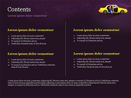 World Taxi Service PowerPoint Template, Slide 2, 14838, Cars and Transportation — PoweredTemplate.com
