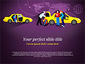Cars and Transportation: World Taxi Service PowerPoint Template #14838