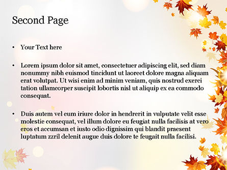 Autumn Leaves and Sunbeams PowerPoint Template, Slide 2, 14839, Nature & Environment — PoweredTemplate.com