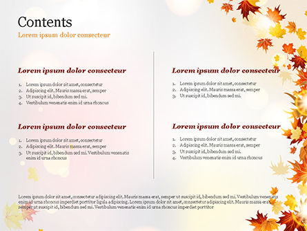 Autumn Leaves and Sunbeams PowerPoint Template, Slide 2, 14839, Nature & Environment — PoweredTemplate.com