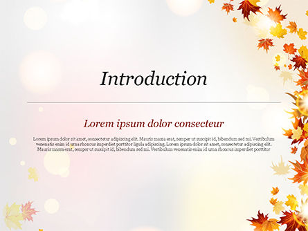 Autumn Leaves and Sunbeams PowerPoint Template, Slide 3, 14839, Nature & Environment — PoweredTemplate.com