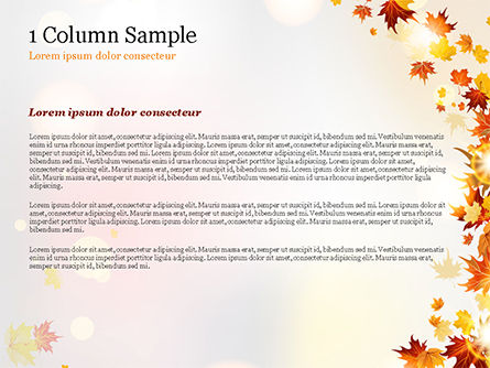 Autumn Leaves and Sunbeams PowerPoint Template, Slide 4, 14839, Nature & Environment — PoweredTemplate.com