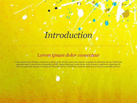 Paint Stains on Yellow Background PowerPoint Template Slide 3