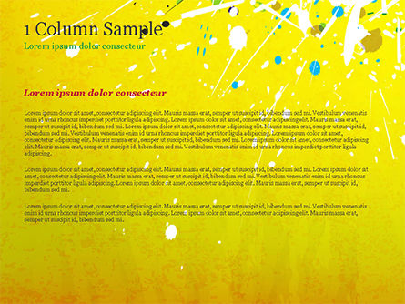 Paint Stains on Yellow Background PowerPoint Template Slide 4
