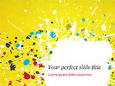 Abstract/Textures: Paint Stains on Yellow Background PowerPoint Template #14840