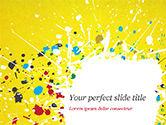 Abstract/Textures: 黄色の背景にペイントの汚れ - PowerPointテンプレート #14840