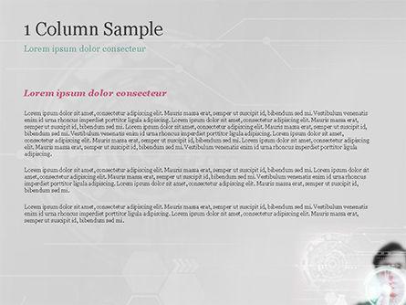Engineer Touching High-Tech Screen PowerPoint Template, Slide 4, 14843, Technology and Science — PoweredTemplate.com