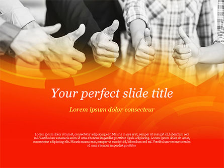 Business: Modello PowerPoint - Cinque partner commerciali che mantengono i pollici in su #14847