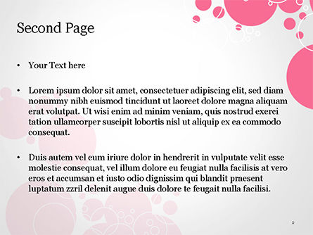Pink Bubbles and Circles Background PowerPoint Template, Slide 2, 14850, Careers/Industry — PoweredTemplate.com