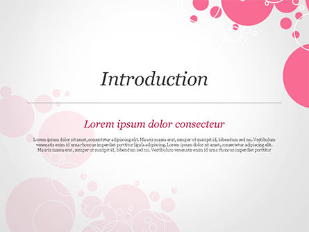 Pink Bubbles and Circles Background PowerPoint Template, Slide 3, 14850, Careers/Industry — PoweredTemplate.com