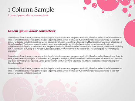 Pink Bubbles and Circles Background PowerPoint Template, Slide 4, 14850, Careers/Industry — PoweredTemplate.com