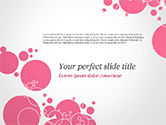 Careers/Industry: Pink Bubbles and Circles Background PowerPoint Template #14850