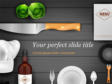Food & Beverage: Kitchen Utensil Illustration PowerPoint Template #14851