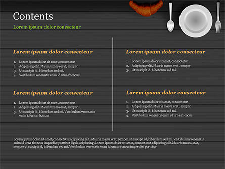 Kitchen Utensil Illustration PowerPoint Template, Slide 2, 14851, Food & Beverage — PoweredTemplate.com
