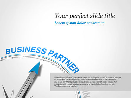 Finding Business Partner Concept PowerPoint Template, 14853, Business Concepts — PoweredTemplate.com