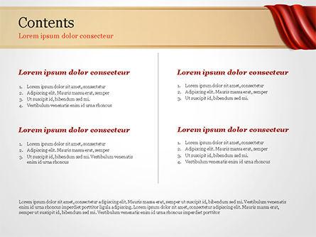 Drapery PowerPoint Template, Slide 2, 14854, 3D — PoweredTemplate.com