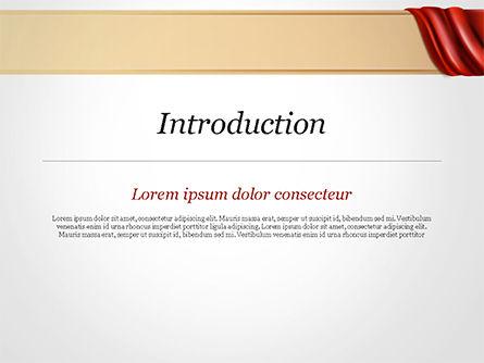 Drapery PowerPoint Template, Slide 3, 14854, 3D — PoweredTemplate.com