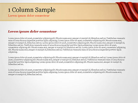 Drapery PowerPoint Template, Slide 4, 14854, 3D — PoweredTemplate.com