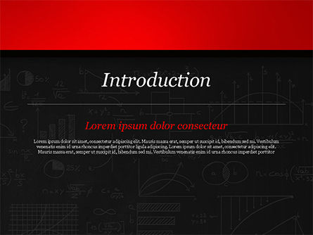 Math Equations on Chalkboard PowerPoint Template Slide 3
