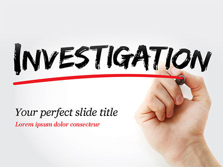 A Hand Writing Investigation PowerPoint Template