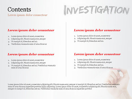 A Hand Writing Investigation PowerPoint Template Slide 2