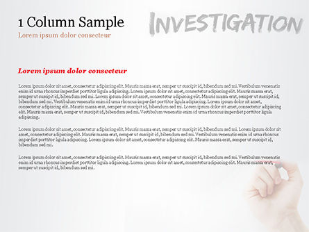 A Hand Writing Investigation PowerPoint Template Slide 4
