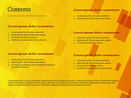 Red an Yellow Overlapping Squares PowerPoint Template Slide 2