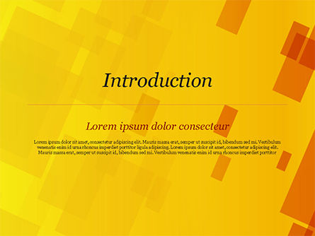 Red an Yellow Overlapping Squares PowerPoint Template Slide 3