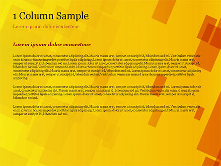 Red an Yellow Overlapping Squares PowerPoint Template Slide 4