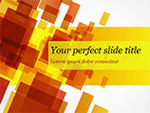 Abstract/Textures: Red an Yellow Overlapping Squares PowerPoint Template #14859
