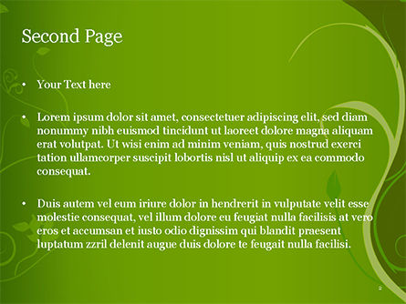 Florid Green Frame PowerPoint Template, Slide 2, 14861, Art & Entertainment — PoweredTemplate.com