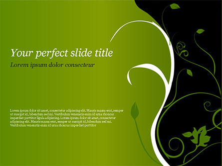Florid Green Frame PowerPoint Template, 14861, Art & Entertainment — PoweredTemplate.com