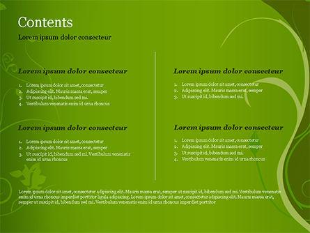 Florid Green Frame PowerPoint Template Slide 2