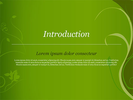 Florid Green Frame PowerPoint Template, Slide 3, 14861, Art & Entertainment — PoweredTemplate.com