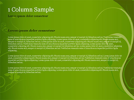 Florid Green Frame PowerPoint Template, Slide 4, 14861, Art & Entertainment — PoweredTemplate.com