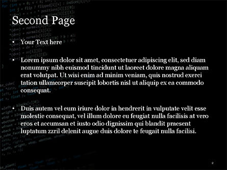 Programming Code on Computer Monitor PowerPoint Template, Slide 2, 14863, Technology and Science — PoweredTemplate.com